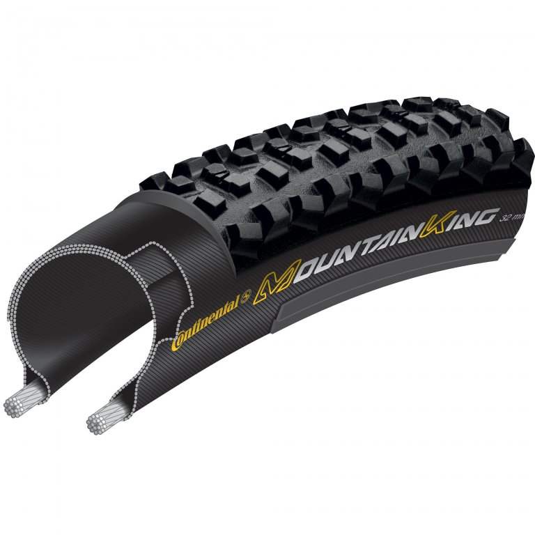 "plášť Continental Mountain King CX RaceSport 28""x1.25/32-622 kevlar"
