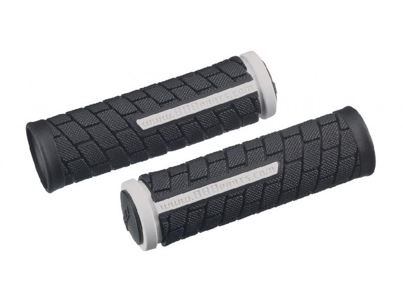 gripy BBB DualGrip 102mm černo/bílé