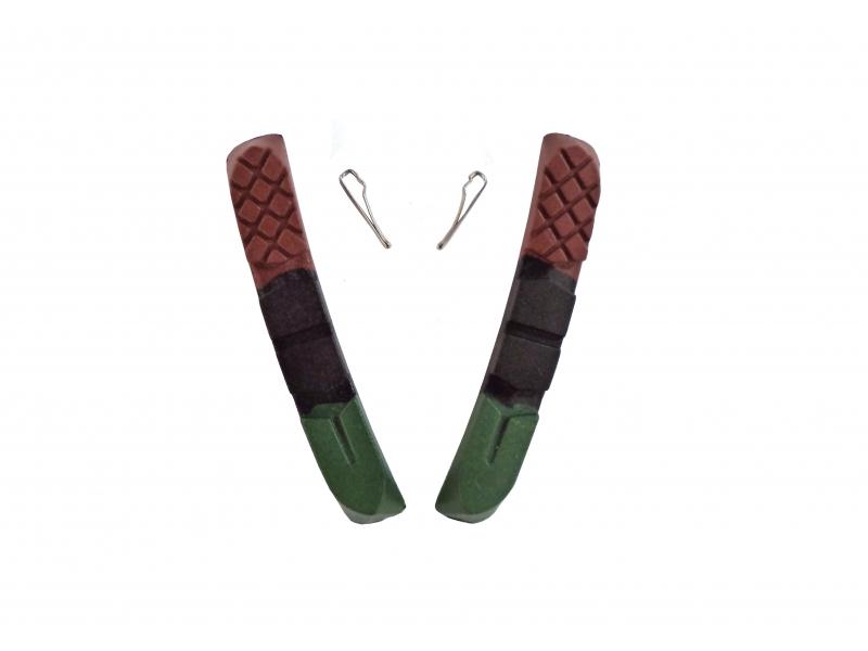 gumičky špalíků 4RACE MTB 72mm 3-barevné-army