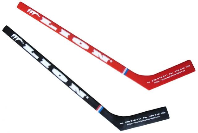 hokejka mini Lion 30cm - červená rovná