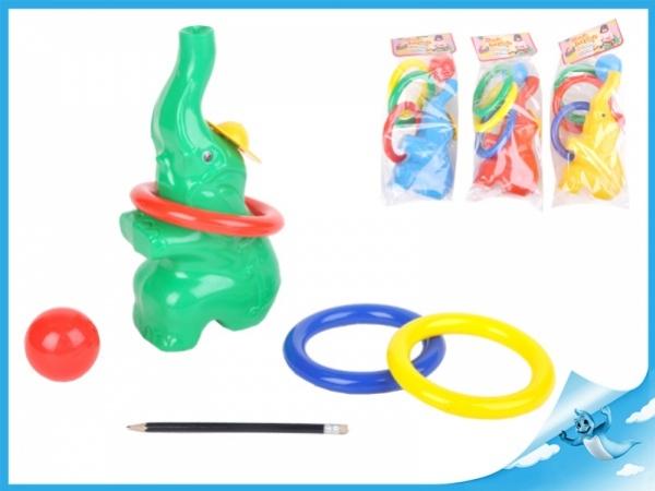 hra házecí - slon 33cm s kroužky