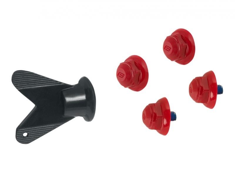 hroty na MTB tretry 4ks červené + klíč