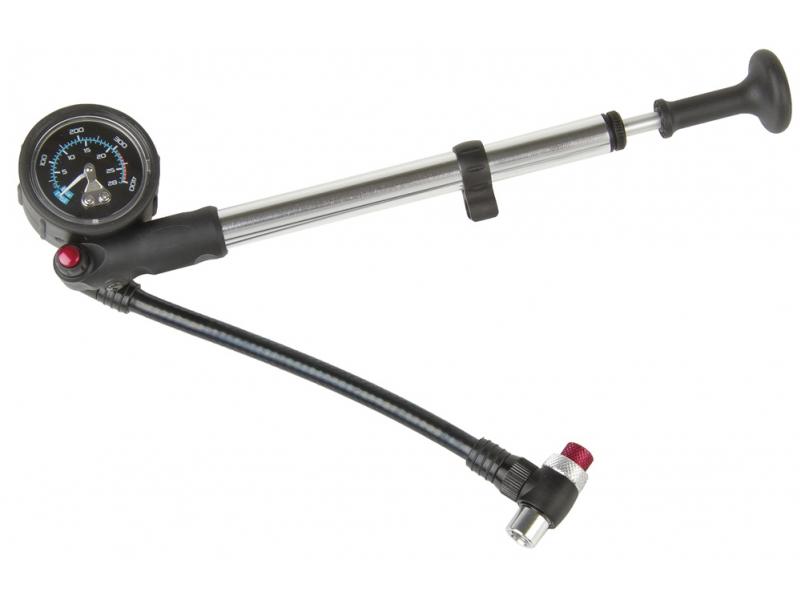 hustilka BETO na odpružené vidlice s manometrem