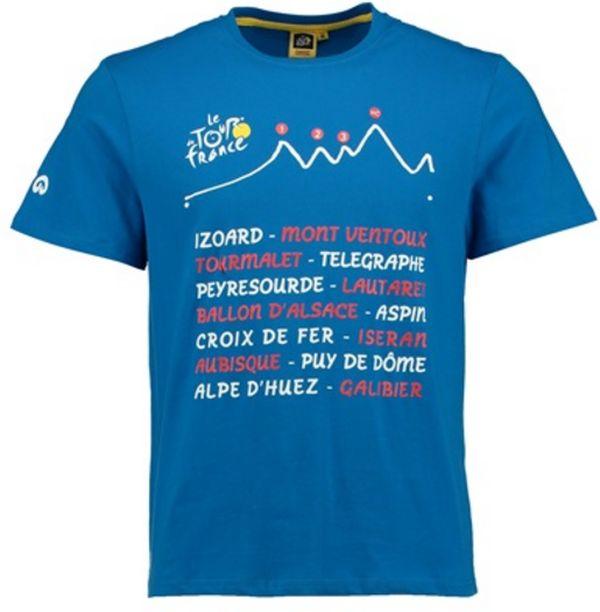 triko krátké pánské Tour de France GRAPHIC modré