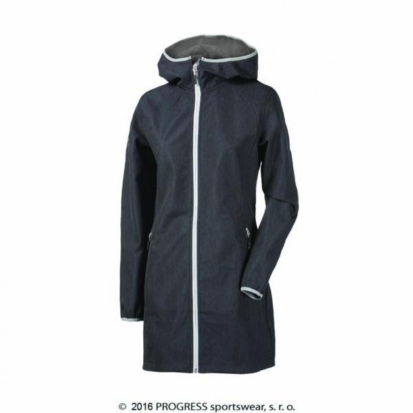 kabát dámský Progress RIGA softshel šedý