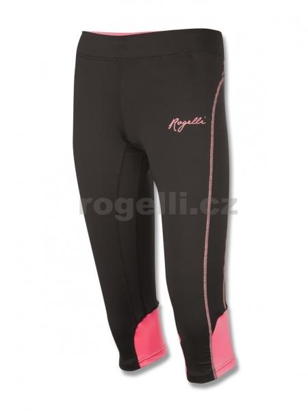 kalhoty 3/4 dámské Rogelli SUEZ černo/růžové