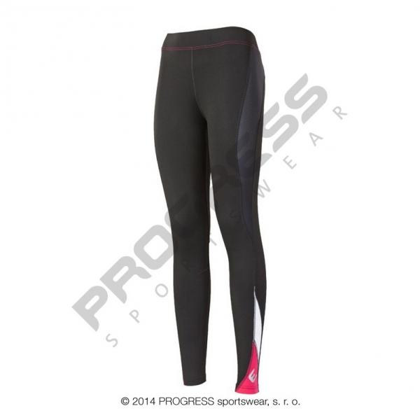 kalhoty dlouhé dámské Progress NADINE černo/růžové