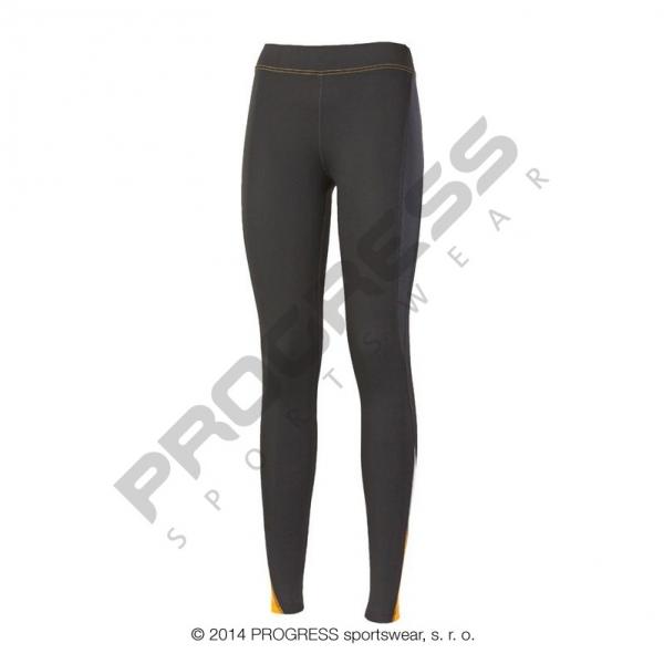 kalhoty dlouhé dámské Progress NADINE černo/oranžové