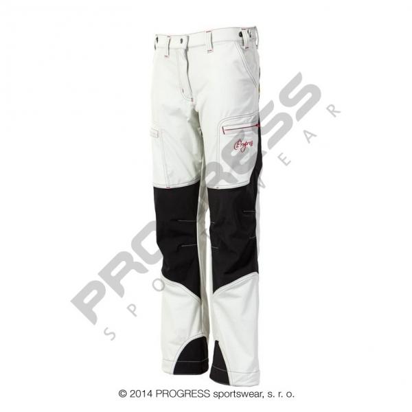 kalhoty dlouhé dámské Progress QUETTA zateplené bílo/černé
