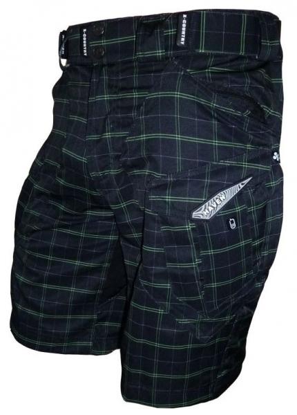 kalhoty krátké pánské HAVEN Cubes II černo/zelené