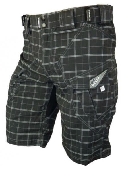 kalhoty krátké pánské HAVEN CUBES II cubes černo/bílé