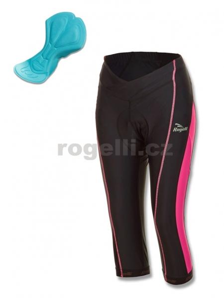 kalhoty 3/4 dámské Rogelli BYLA KNICKER černo/růžové