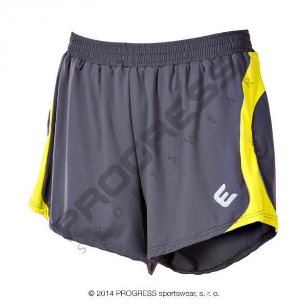 kalhoty krátké pánské Progress LOTAR šedo/žluté