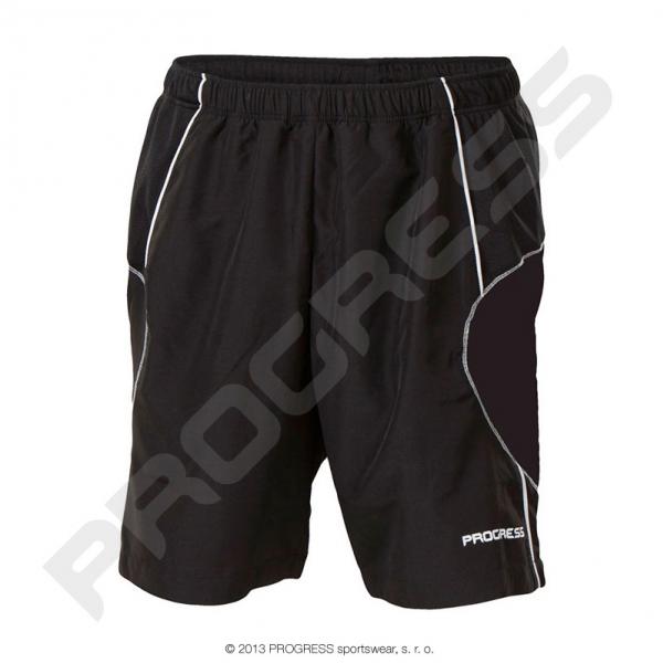 kalhoty krátké pánské Progress FLEXI černé