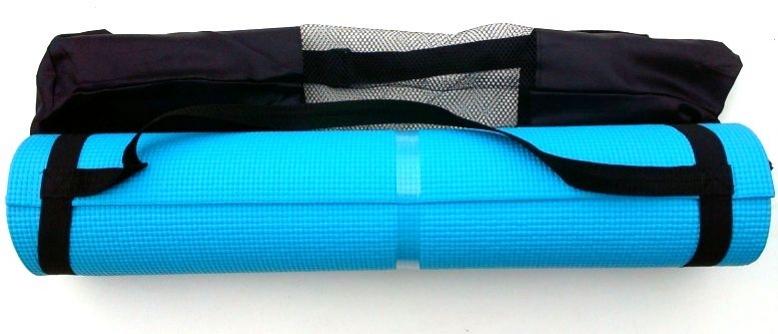 karimatka na cvičení 6mm s obalem modrá