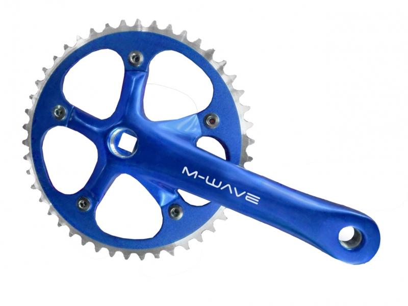 kliky M-Wave 1x1 46z 165 mm CNC modré