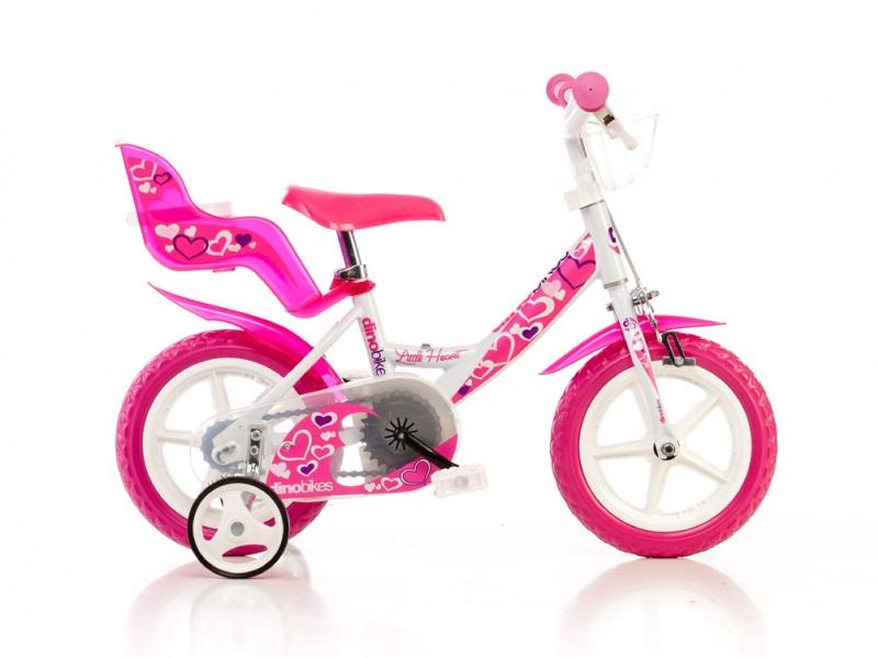 """kolo 12"""" Dino Bikes bílo/růžové"""