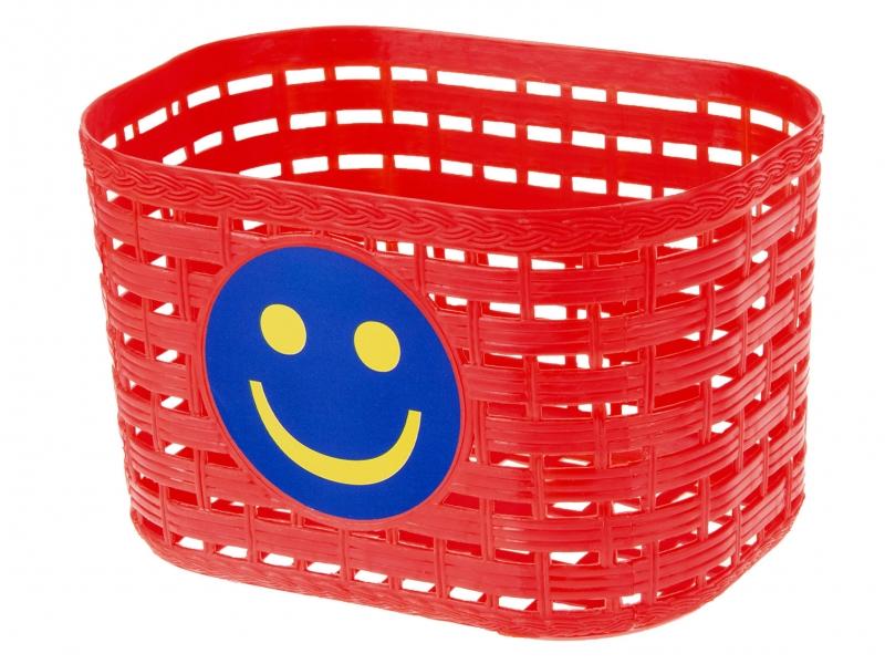 koš dětský barevný červený Smile + pásky