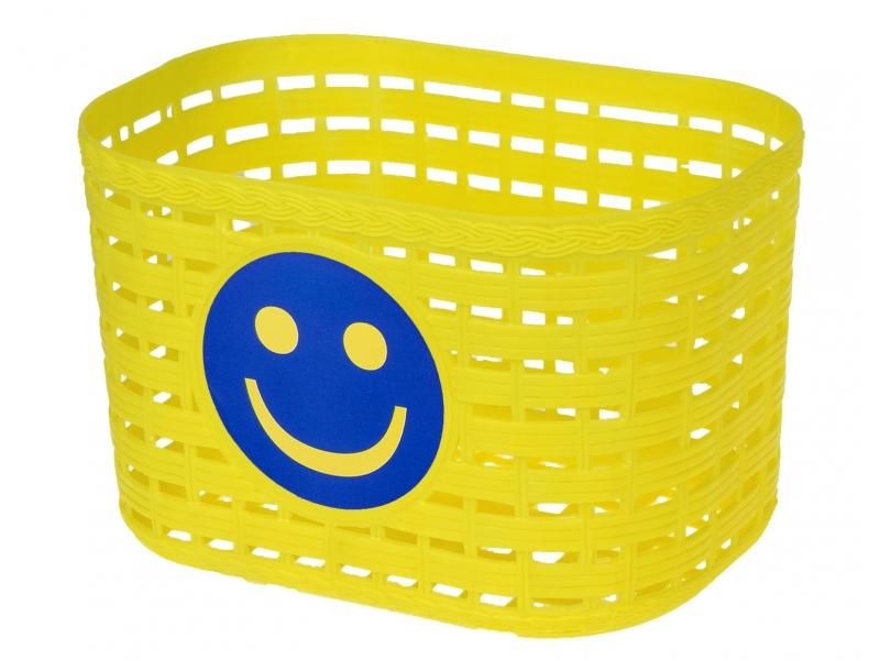 koš dětský barevný žlutý  Smile + pásky