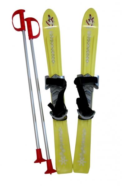 lyže sjezdové dětské 70cm žluté
