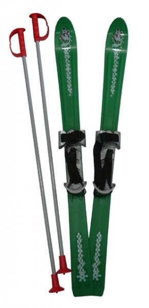 lyže sjezdové dětské 90cm zelené