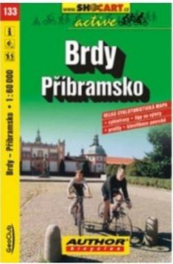 mapa cyklo Brdy, Příbramsko,133