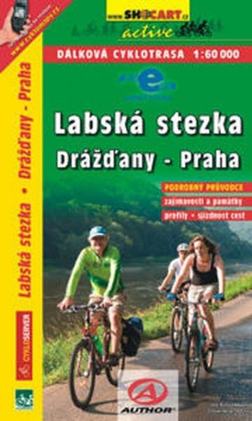 mapa cyklo Labská stezka Drážďany-Praha - cykloprůvodce