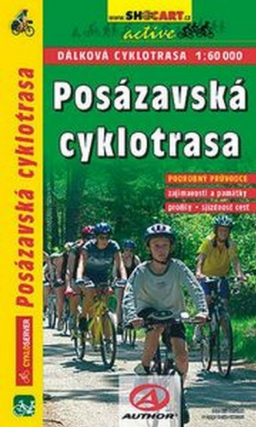 mapa cyklo Posázavská cyklotrasa - cykloprůvodce