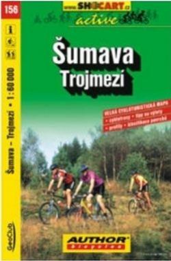 mapa cyklo Šumava,Trojmezí,156