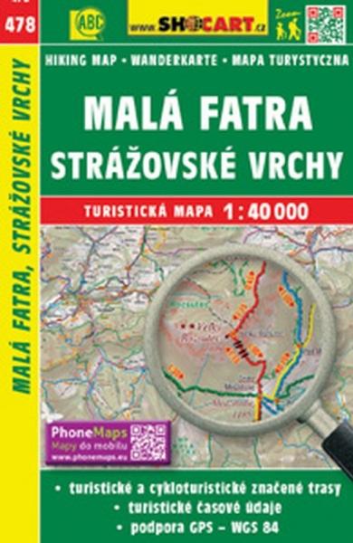 mapa cyklo-turistická Malá Fatra, Strážovské vrchy, 478