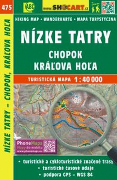 mapa cyklo-turistická Nízké Tatry, Chopok,475