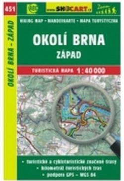 mapa cyklo-turistická Okolí Brna západ,451