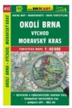 mapa cyklo-turistická Okolí Brna, Mor.Kras,452