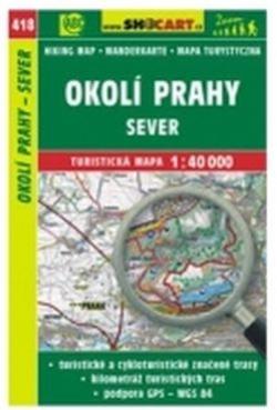 mapa cyklo-turistická Okolí Prahy - sever,418