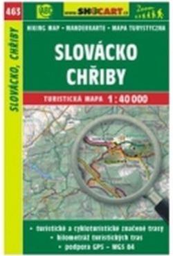 mapa cyklo-turistická Slovácko,Chřiby,463