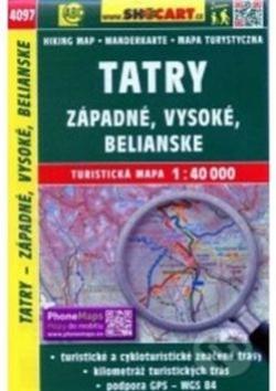 mapa cyklo-turistická Tatry Vysoké,Západné,473