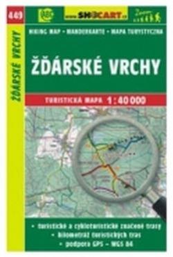 mapa cyklo-turistická Žďárské vrchy,449