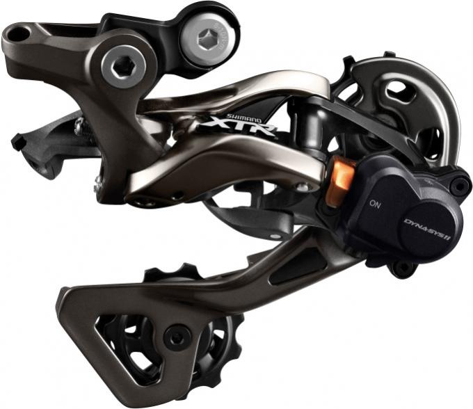 Měnič MTB 11k Shimano XTR M9000 černý střední vodítko