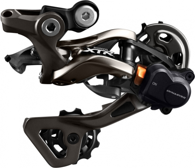 Měnič MTB 11k Shimano XTR M9000 černý dlouhé vodítko