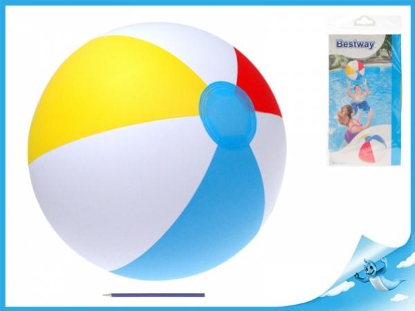 míč nafukovací 61cm barevné pruhy