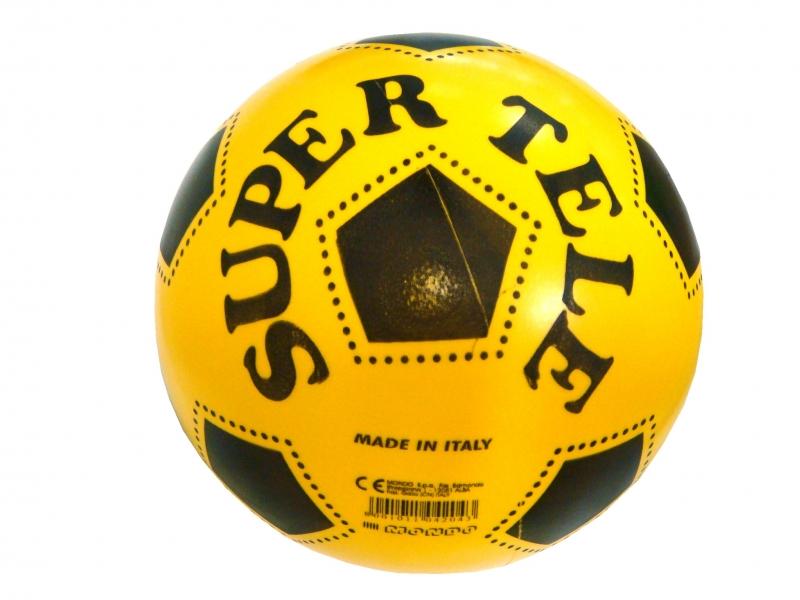 míč gumovy SUPER TELE žlutý