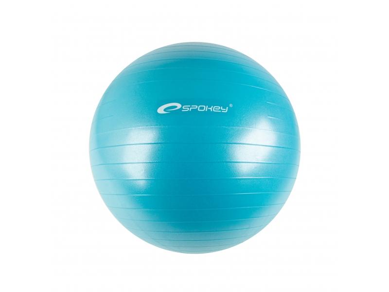 míč gymnastický Spokey FITBALL II 55cm tyrkysový s pumpičkou