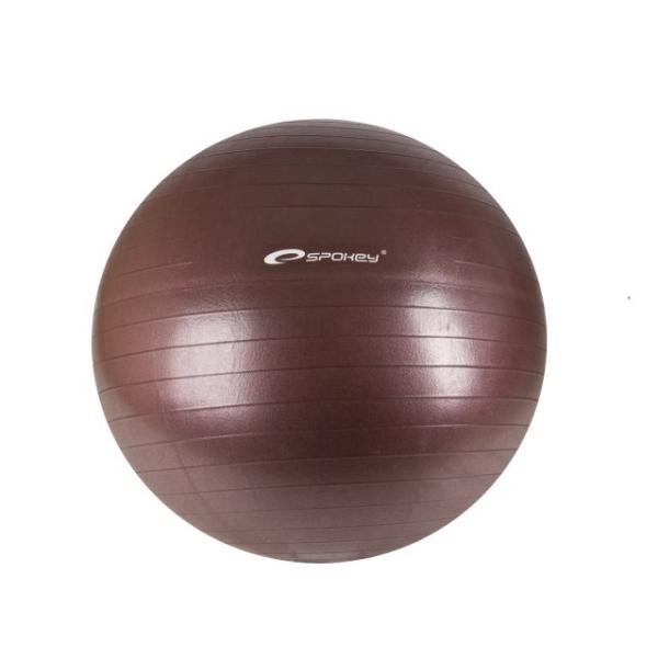 míč gymnastický Spokey FITBALL II 55cm bordó s pumpičkou