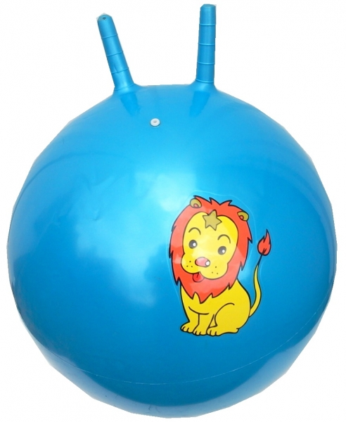 míč skákací 50 cm modrý