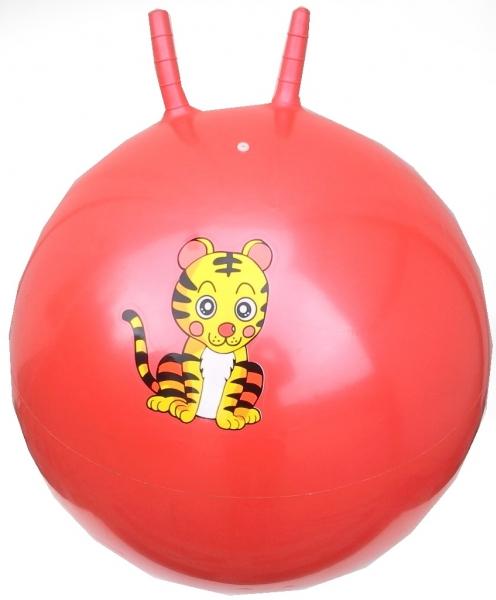 míč skákací 60 cm červený