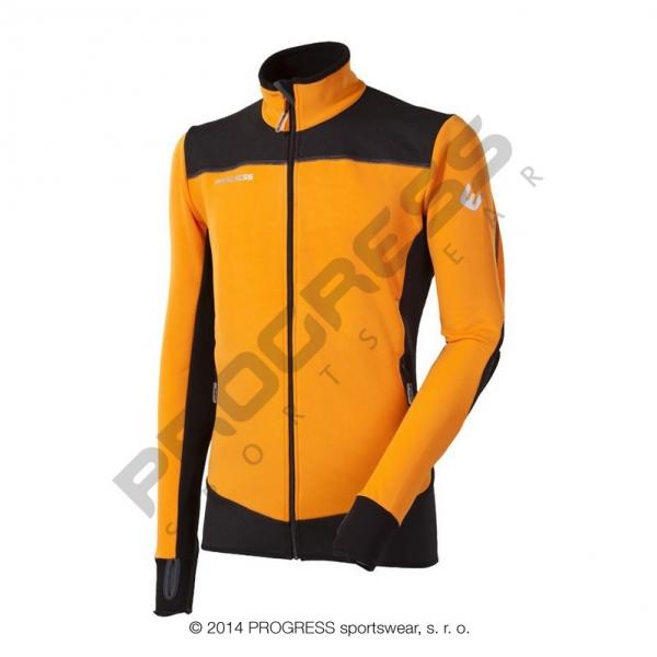 mikina pánská Progress ROFAN oranžovo/černá