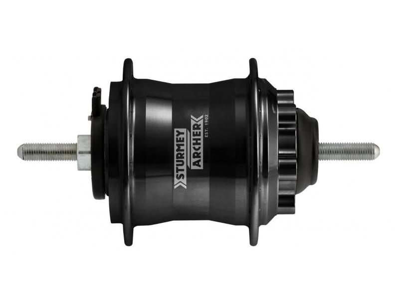 náboj s dynamem Sturmey-Archer HDS22 6V,2.4W 36d, pro kotouč. brzdu, čern