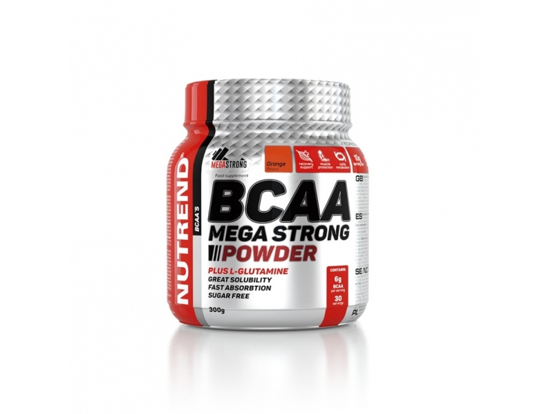 nápoj Nutrend BCAA Mega Strong Powder 300g pomeranč