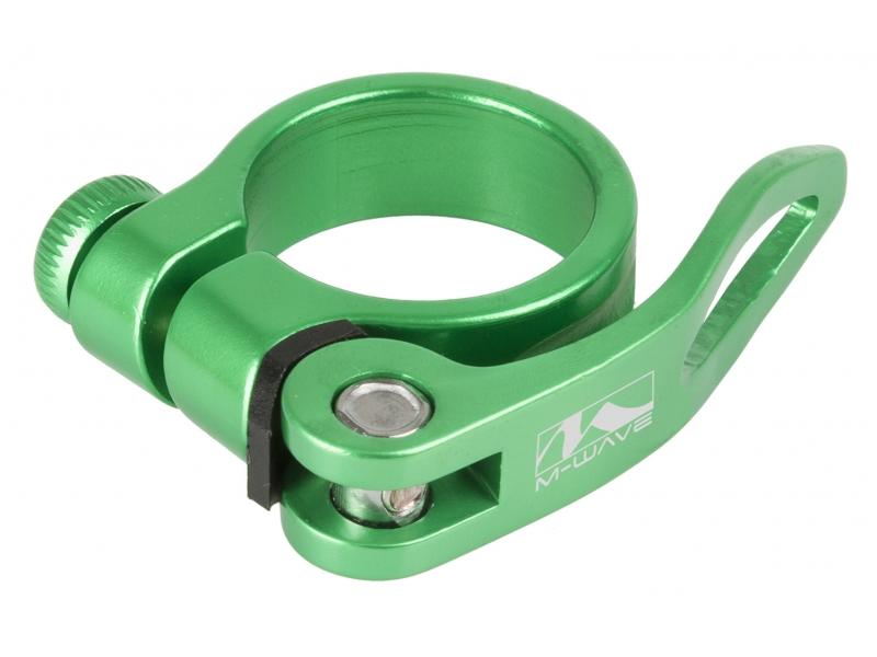 objímka sedlovky M-Wave Al 34,9 zelená