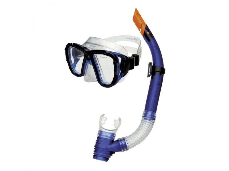 brýle+šnorchl Spokey CORAL JUNIOR modré